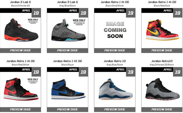 Eastbay Schedules The Greatest Air Jordan Restock Of All Time ... 58926edf7