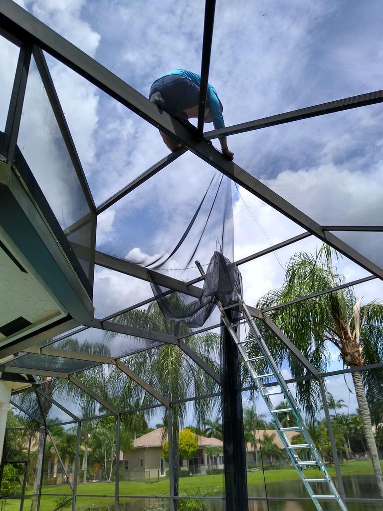 patio enclosure re screening aventura
