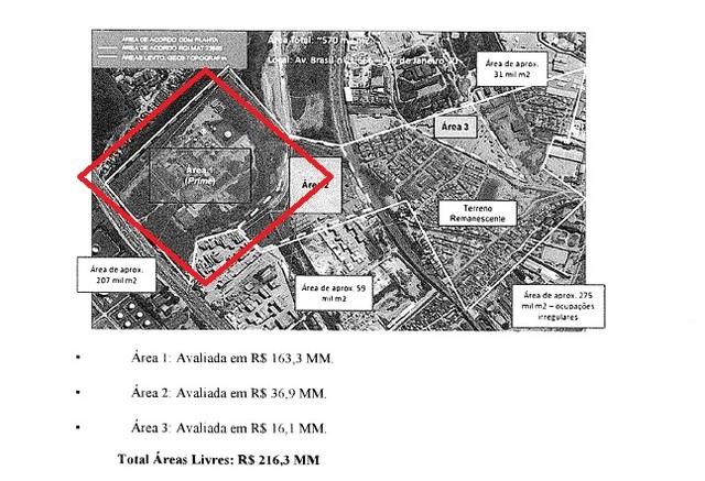 Área na mira do Fla foi a leilão avaliada em R$ 157 mi. Grupo comunica acionistas
