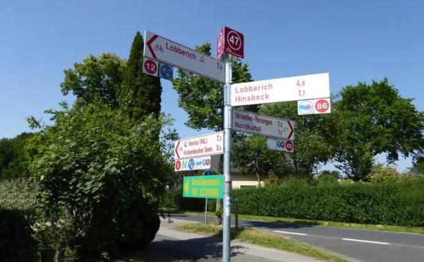 Urlaub im deutsch-niederländischen Grenzgebiet - Radeln nach Zahlen