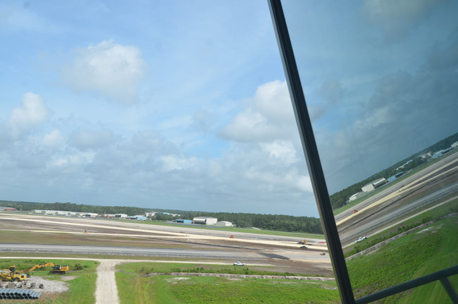 A view of the Flagler County Executive Airport from its control tower. (© FlaglerLive)