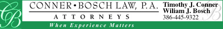 Conner Bosch law attorneys lawyers offices palm coast flagler county