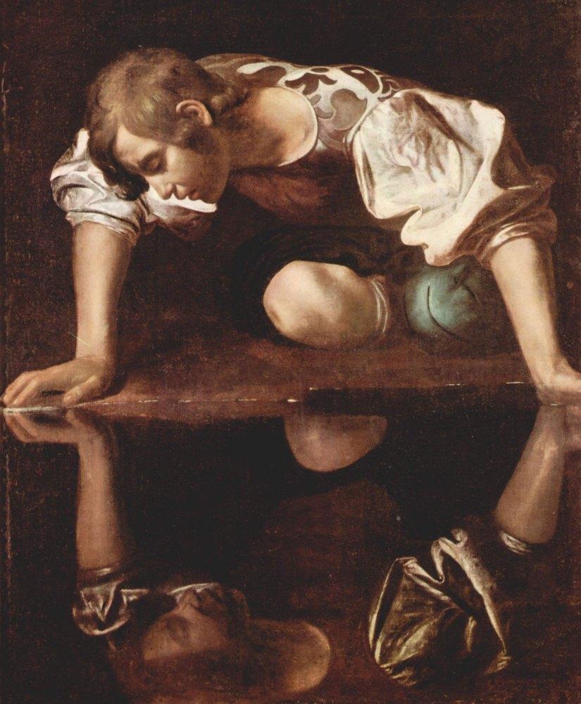 """Caravaggio's """"Narcissus"""" (1597–99)"""