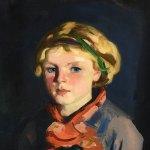 """Detail from Robert Henri's """"Kathleen,""""1924, oil on board. Huntington Museum of Art (John Spurlock)"""
