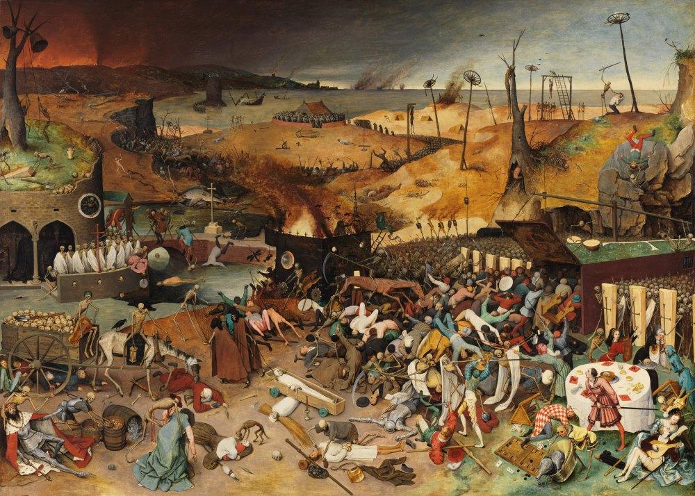 "Pieter Bruegel the Elder's ""The Triumph of Death"" (1562). Trump Covid-19"
