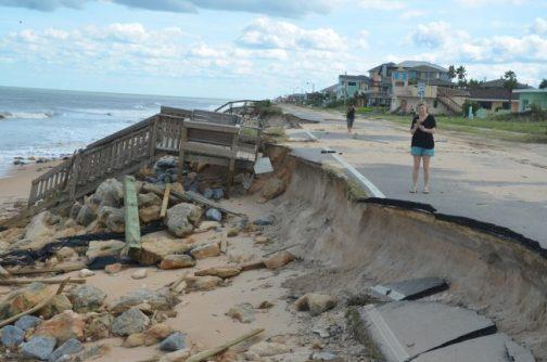 A1A dunes erosion hurricane Matthew