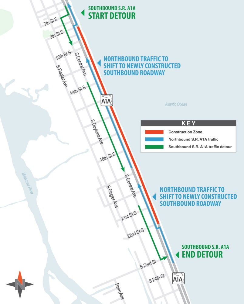 state road a1a construction
