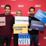 Lin-Manuel Miranda, his father Luis Miranda, and John James have a message on the ACLU's 100th birthday. (ACLU)