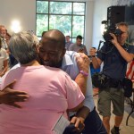 Gubernatorial candidate Andrew Gillum's rapport with his supporters at the Palm Coast Community Center was immediate. (© FlaglerLive)