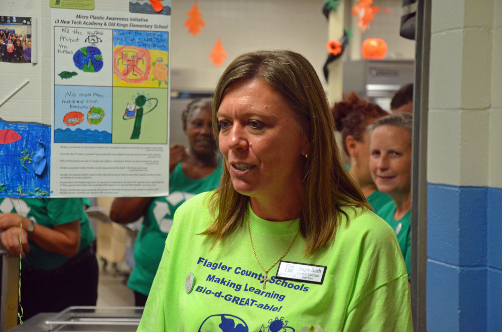Angela Bush is Flagler County's nutritions services director. She's known as an outspoken innovator and advocate for children and staff. (© FlaglerLive)