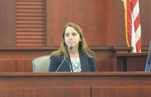 The Flagler County Sheriff's Annie Conrad, the detective on the Singer case, along with Jodie Glasgow. (© FlaglerLive)