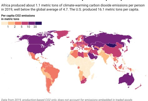 Data from 2019, production-based CO2 only, does not account for emissions embedded in traded goods Map: The Conversation/CC-BY-ND (Our World in Data, Global Carbon Project.)