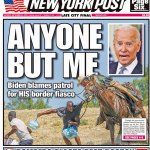 The Sept. 25 cover of the New York Post and parts of the photographs in question.
