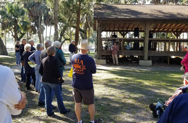 Opponents of the expansion of Captain's BBQ at Bing's Landing again gathered Sunday to voice their opposition and concerns, as they have for the past three Sundays. A group just filed an appeal of a county decision to allow the restaurant to build anew. (Contributed)