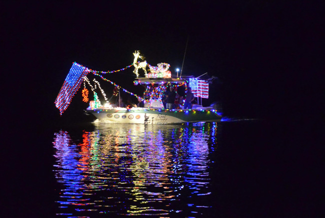 The Yacht Club's Boat Parade is Saturday evening. See details below. (© FlaglerLive)