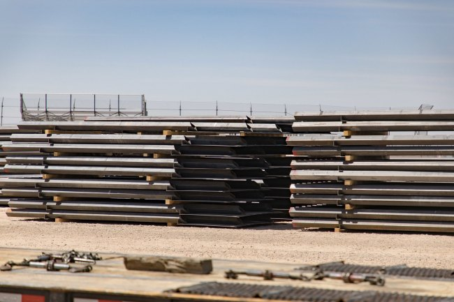 Construction has stopped on the border wall. (CBP)