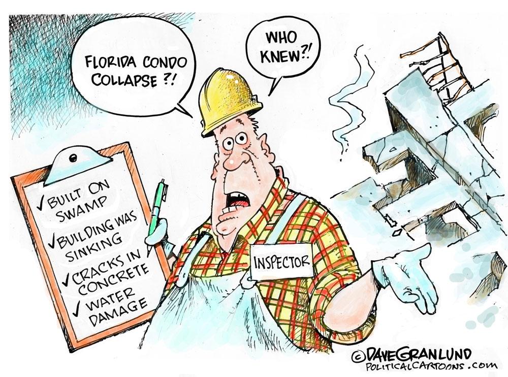 florida building collapse cartoon