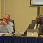 Christopher Campbell's tenure as finance director in Bunnell, was short-lived: City Manager Alvin jackson, right, had hired Campbell in May. (© FlaglerLive)