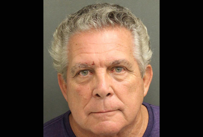 Larry Cavallaro in an Orange County jail mugshot today.