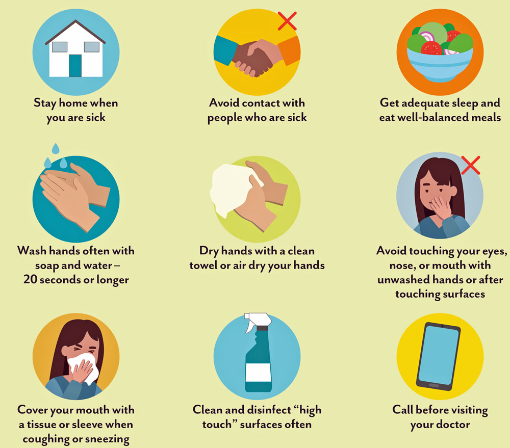 The Florida Department of Health's most immediate tips to residents in efforts to limit coronavirus.