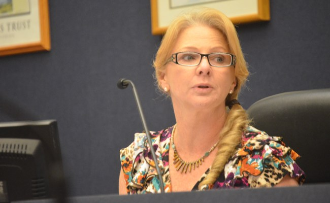 Bunnell City Commissioner Jenny Crain Brady put a coda to her elections fiasco Monday evening. (© FlaglerLive)