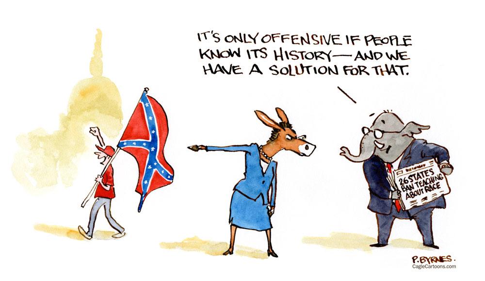 confederate flag critical race theory