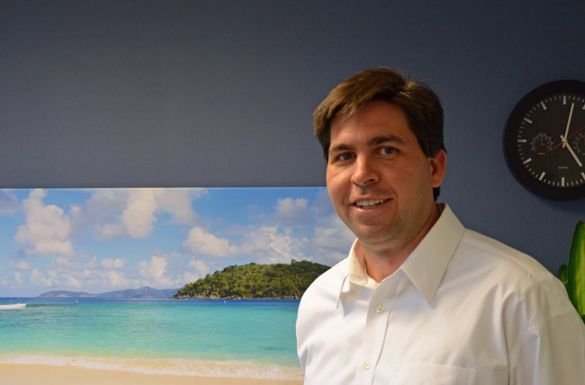 David Ottati on his office at Florida Hospital Flagler in 2011, two years before he was transferred to a hospital in Lake County. (© FlaglerLive)