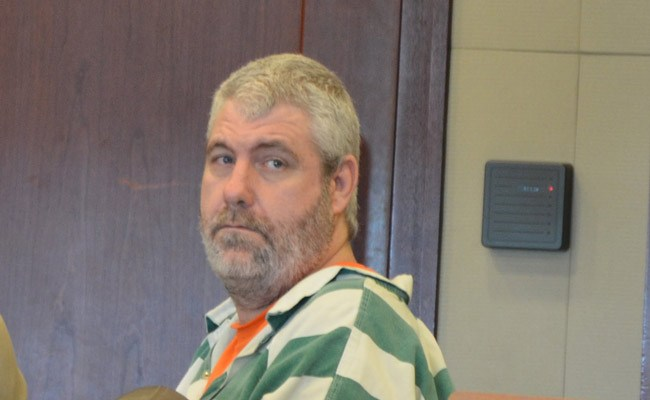 David Snelgrove in his last court appearance in Flagler, in May 2015. (© FlaglerLive)
