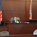 Circuit Judge Dennis Craig, shortly after Maria Howell left the court during a pre-trial in October at the Flagler County courthouse. (© FlaglerLive)