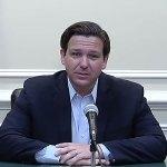 Gov. Ron DeSantis at Saturday's briefing on the coronavirus. (Via Florida Channel)