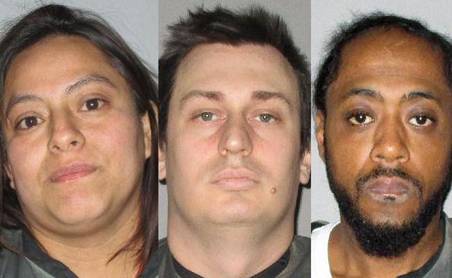 From left, Carmen Owens, Trevor Brandon andRobert Brown. domestic violence