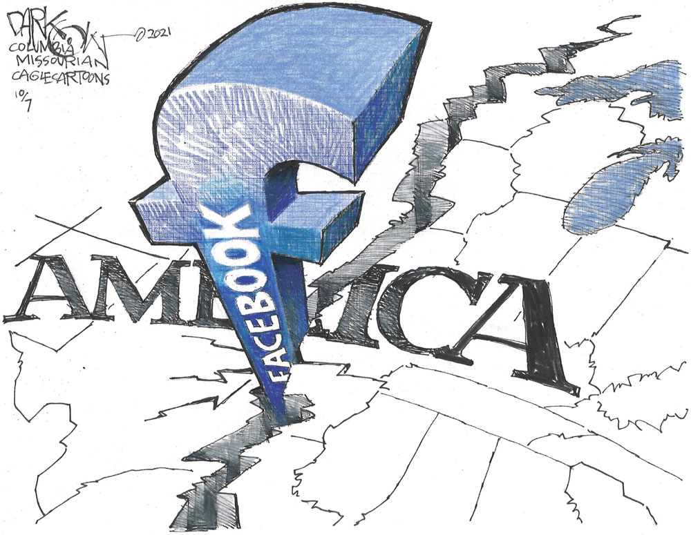 Dividing America by John Darkow, Columbia Missourian
