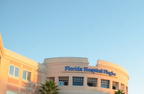 The sun is setting on Florida HospitalFlagler, but in name only. Expect to see AdventHealth by Jan. 2. (© FlaglerLive)