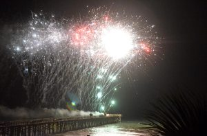 And on the eighth day God lit up the pier. (FlaglerLive)