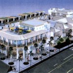 A rendering of the proposed Flagler Beach hotel at the center of town.