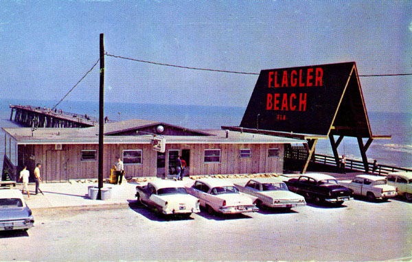 An undated photo of the A-frame in the late 1950s or early 60s. (Florida Memory) flagler beach