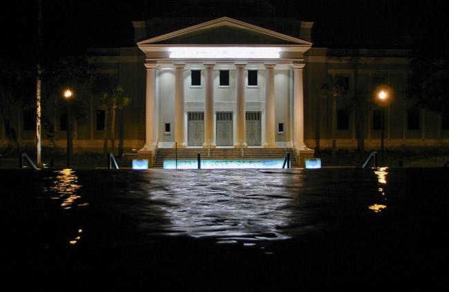 Night falls on the Florida Supreme Court. (Stephenie Smith)