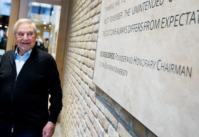 Roped-in again: George Soros. (Central European University)