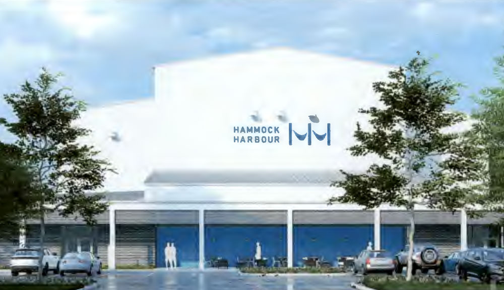 A rendering of the Hammock Harbor redevelopment proposed for the 4 acres next to Hammock Hardware.