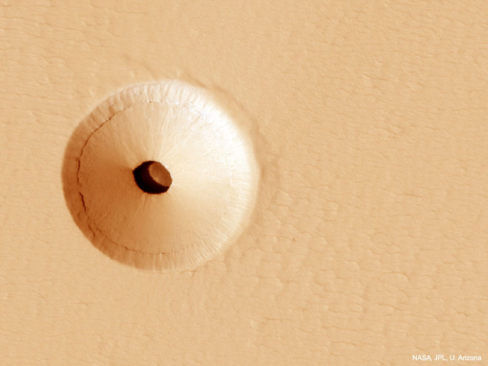 A Hole in Mars: