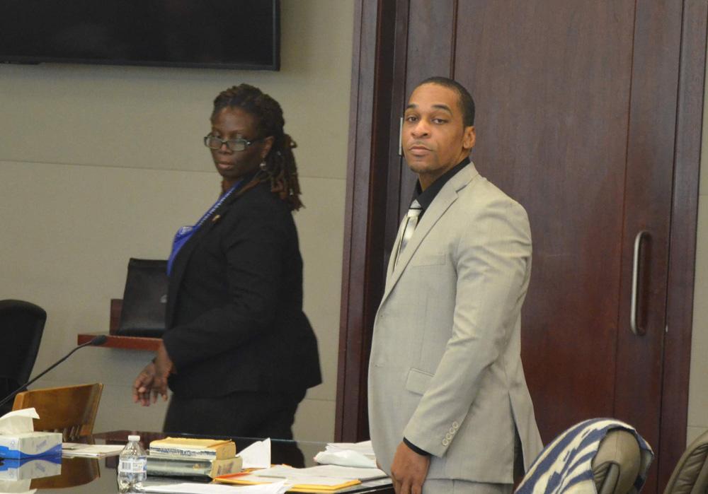 James Taylor with his attorney, Assistant Public Defender Regina Nunnally. (© FlaglerLive)