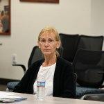 Flagler County School Board member Janet McDonald at the day-long training session on Sept. 9. (© FlaglerLive)