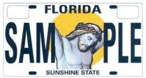 jesus license plate florida senate