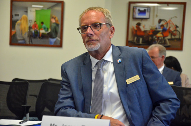 One of the things that drew Flagler County School Board members to Jim Tager almost two years ago was his focus on raising graduation rates. It's working. (© FlaglerLive)