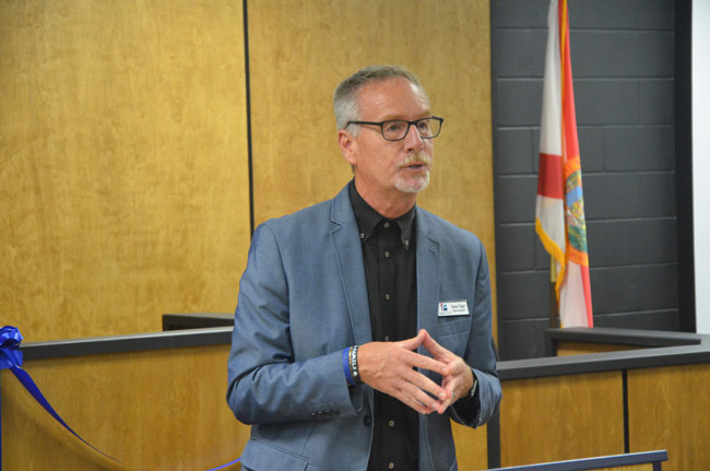 Superintendent Jim Tager isn't quite at the end of the second year of a three-year contract. (© FlaglerLive)