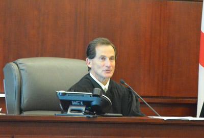 Circuit Judge Dennis Craig this afternoon. (© FlaglerLive)
