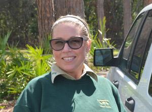 The Forest Service's Julie Allen. (© FlaglerLive)