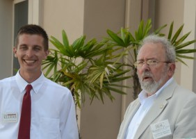 Council members Nick Klufas, left, and Bob Cuff. (© FlaglerLive)