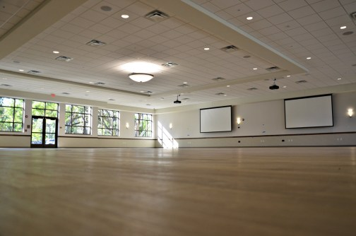 The largest room at the center might as well be a skating rink: it's 5,000 square feet. Click on the image for larger view. (© FlaglerLive)