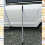 """The actual spear that was hurled at a Palm Coast city employee's truck, with the employee inside, last year. The incident was documented in what the city referred to as a """"Difficult Citizen List"""" largely kept secret until its revelation by the News-Journal last week. (© FlaglerLive)"""